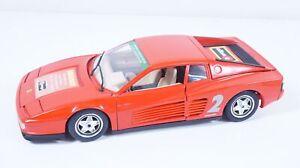 1:18--BBURAGO--Ferrari testarossa 2 BBURAGO SAMMEL BÖRSE  / 33 B 182