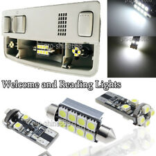 for VW Caddy Xenon White Interior LED Welcome and Reading Lights Upgrade Kit 3PC