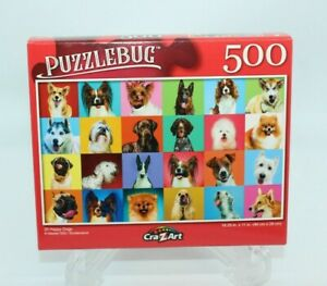 NEW Puzzlebug 500 Piece Puzzle 20 Happy Dogs Dog Faces