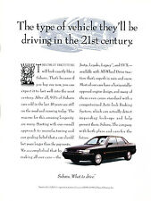 1993 Subaru Legacy Original Advertisement Car Print Ad J367