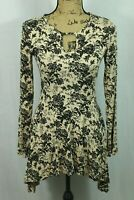 Effie's Heart Vintage Style Damask Floral Dress Size Small Stretch Fit and Flare