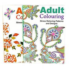 A4 Adult Colouring  -Therapy Anti-Stress Adult Colouring Book Relax