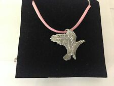 Eagle pp-b09 peltro Ciondolo su una corda rosa Collana