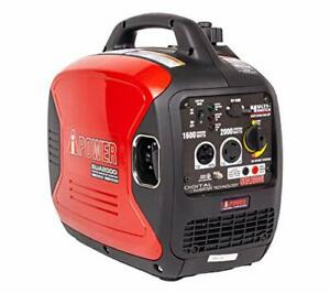 A-iPower SUA2000iV 2000 Watt Portable Inverter Generator Gas Powered Small wi...