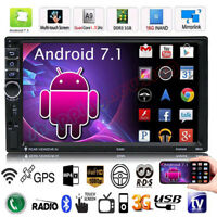 """Quad Core Android 7.1 3G WIFI 7 """"Double 2DIN Autoradio Stereo MP5 MP3 GPS Player"""