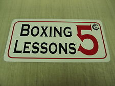 Boxing Lessons Metal Sign 4 Hockey Rink Club Beer Joint Gym Bar Ice House Judo