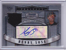 2007 Bowman Sterling Prospects #HS Henry Sosa Jersey Auto