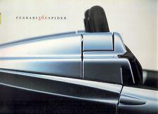 Ferrari 360 Spider 2000-02 UK Market Multilingual Sales Brochure