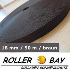 50 m Rolladengurt 18 mm braun Rolladen Gurt Gurtband z.B. Fertighaus Rollladen