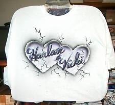 Airbrushed T-Shirt GRANITE HEARTS S M L XL 2X 3X 4X 5X