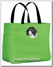 Munsterlander embroidered essential tote bag Any Color