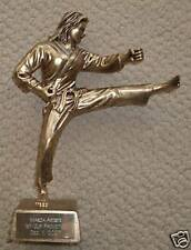 Karate Martial Arts Resin Trophy Award (Female) - Engraved Free