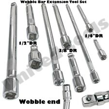 "9pc Socket Wobble Bar Extension Tool Set 1/4"" 3/8"" 1/2"" Dr inch Drive Garage CVS"