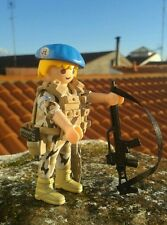 Playmobil custom ONU Libano Afganistan militar Español policia guardia civil