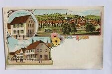 30417 Litho AK Gruß aus REIHEN Bier Brauerei Vowinckei u. Haus M. Keitel 1899