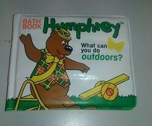 Humphrey B Bear Baby Bath Book Pancake Press Banksia Productions 1996 Vintage