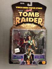 1997 TOY BIZ VIDEO GAME SUPER STARS LAURA CROFT TOMB RAIDER ACTION FIGURE J14