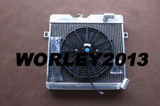 56 mm aluminum radiator + fan for ALFA ROMEO GT 1971-1977 manual