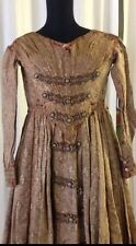 Gesellschaftskleid braun, antik, Rarität, Jugendstil 1860 Gr. 36 historisch