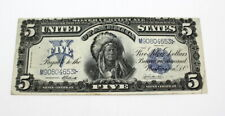 SERIES OF 1899 LARGE $5 SILVER CERTIFICATE CHEIF RUNNING ANTELOPE-NR #10035-5