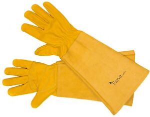 Premium Thorn Proof Gardening Gloves with Long Gauntlet Sleeves for Men & Women