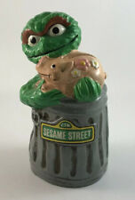 Vintage 1971 Sesame Street Oscar the Grouch Ceramic Piggy Bank
