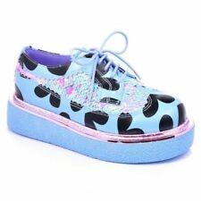Irregular Choice 'Stage Skool' (D) Blue Platform Brogues Flat Shoes EU 36 UK 3.5