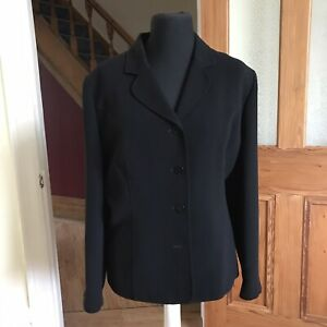 Ladies Eastex Heirloom Black Tailored Smart Jacket Size 20 (fit 18 20) **Flaw**