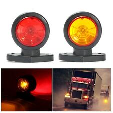 12V 24V Truck Trailer Lorry 2 LED Side Marker Clearance Light Indcator Red Amber