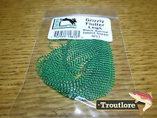 INSECT GREEN GRIZZLY FLUTTER LEGS BARRED HARELINE DUBBIN NEW FLY TYING MATERIAL