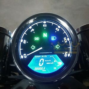 Motorcycle Tachometer LCD Digital Speedometer Odometer For 1,2,4 Cylinders New