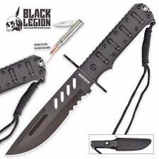 Black Legion Covert Combat Bullet Knife with Sheath Free Shipping