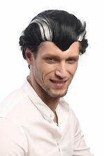 Peluca Hombre Carnaval Halloween Negro Gris geheimratsecken Vampiro Drácula