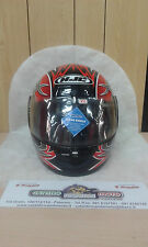 CASCO MOTO INTEGRALE HJC Helmet CS-10 TATOO Nero Rosso Grigio Taglia XL 62 cm