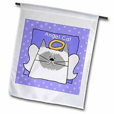 "3dRose Angel Himalayan Cat Cartoon Pet Loss Memorial - Garden Flag, 12 by 18"""