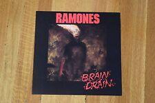 Ramones Brain Drain 1989 Record Store Promo Two-Sided Album Flat Poster Sire