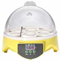 Incubadora Mini 7 Huevos Incubador Incubadora De Aves Criadero De Temperatu K9U5