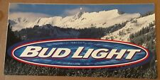 BUD LIGHT 2002 OLYMPIC WINTER GAMES POSTER SIGN - BEER BREWERIANA - ORIGINAL