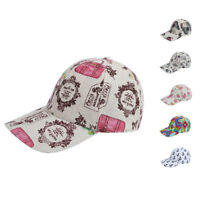 Designer Printed Baseball Summer Caps Hats for Women with Pony Tail Hook Loop