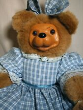 Large Raikes Bear Becky Thatcher  Wood Face with Tag 18 inches tall