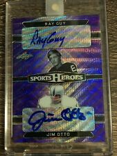 Ray Guy & Jim Otto 2018 Leaf Metal Sports Heroes Dual Auto SP #4/5 C'D DA-08