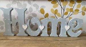 Freestanding Wooden Home Plaque Sign Hand Painted Love Letters New Home 15cm