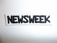 c0068 Vietnam era pre 1966 Newsweek name tape black on white Fatigues OD R10C
