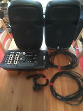 Skytec PSS-300 Portable PA Speakers And Mixer. PA system