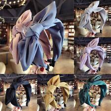 Women Headband Twist Hairband Bow Knot Cross Tie Headwrap Hair Band Hoop
