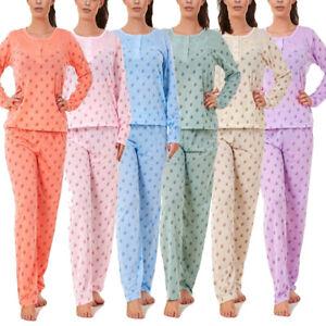 i-Smalls Ladies Pyjama Set Lounger Sunflowers Ultra Soft Cotton Long Sleeves