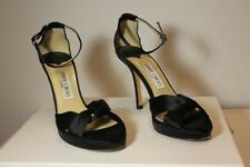 389839ba144e AUTHENTIC Jimmy Choo Black Silk Stilettos with 4-Inch Heels Size 36.5