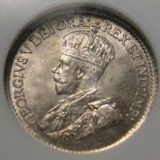 1919 CANADA FIVE CENT SILVER NGC MS65 RARE DATE COIN GREAT TONING