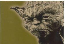 Star Wars Galaxy 4 Gold Foil Chase Card #12 Yoda