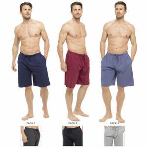 Tom Franks 2 PACK Mens Jersey Shorts Cotton Rich Nightwear Soft Pants Pyjama
